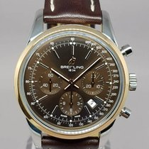 Breitling Transocean Automatic Chrono. 18k GS with Box and...