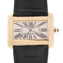 Cartier Tank Divan ny 25mm Gult gull
