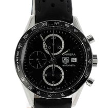 TAG Heuer Carrera Calibre 16 Steel 41mm Black No numerals