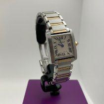 Cartier Tank Française pre-owned 20mm White Gold/Steel