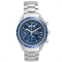 Omega Speedmaster Day Date pre-owned 39mm Blue Weekday Month Steel