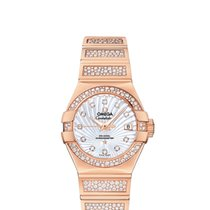 Omega Red gold Mother of pearl new Constellation Ladies