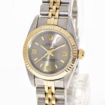 Rolex Oyster Perpetual 26 Gold/Stahl 26mm Grau Keine Ziffern