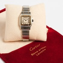 Cartier Santos Galbée Gold/Steel 24mm White Roman numerals United Kingdom, Kent