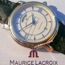 Maurice Lacroix Pontos Day Date Stahl 38mm Weiß Römisch Deutschland, Meißen