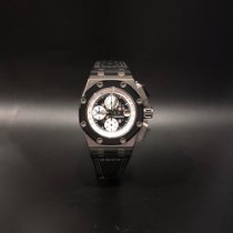Audemars Piguet Titanium Automatic Black No numerals 44mm pre-owned Royal Oak Offshore Chronograph