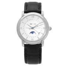 Maurice Lacroix Masterpiece Phases de Lune pre-owned 43mm Silver Moon phase Date Weekday Month Crocodile skin