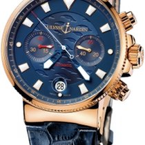 Ulysse Nardin Blue Seal Rose gold 41mm Blue No numerals