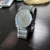 Movado Sapphire Staal 38mm Zilver