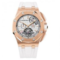 愛彼 Royal Oak Offshore Tourbillon Chronograph 玫瑰金 44mm 無數字 香港