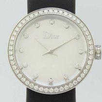 Dior La D Quartz Steel Lady Bezel Diamonds CD047111-J (New)