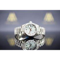 Rolex Platina Automatisch Blauw 26mm tweedehands Lady-Datejust