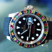 Rolex Yacht Master Rose Gold Black Dial - 116695 SATS Rainbow