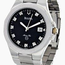 Bulova Marine Star Mens Black Dial, Stainless Steel Band Watch...