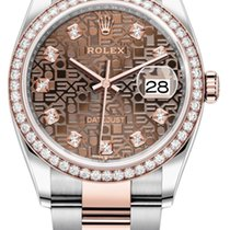 Rolex Datejust 126281RBR Jubilee Chocolate Diamond Oyster Unworn Gold/Steel 36mm Automatic United States of America, New York, Airmont