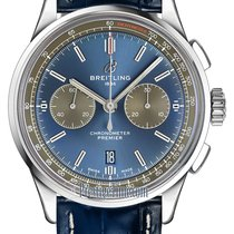 Breitling Staal 42mm Blauw