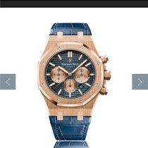 Audemars Piguet Royal Oak Chronograph Rose gold 41mm Blue No numerals UAE, DUBAI