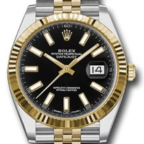 Rolex Datejust Gold/Steel 41mm Black No numerals United States of America, New York, New York