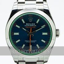 Rolex Milgauss Stal 40mm Niebieski