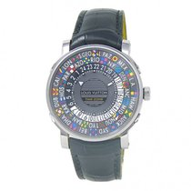 Louis Vuitton Steel 39mm Automatic Q5D20 pre-owned United States of America, New York, New York