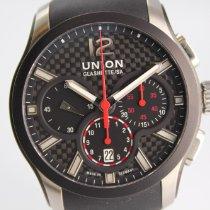 Union Glashütte Belisar Chronograph Steel 43mm Black Arabic numerals