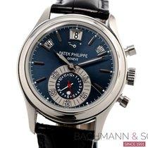 Patek Philippe Annual Calendar Chronograph Platino 40mm Azul Sin cifras