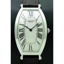 Cartier Tonneau Platin 26mm Silber Römisch