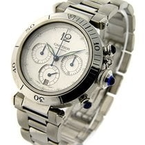 Cartier W31030H3 38mm Pasha Chronograph Automatic in Steel -...