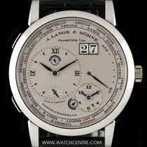 A. Lange & Söhne Platinum Silver Dial Time Zone 1 Gents...