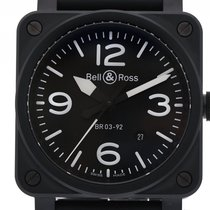 Bell & Ross Steel Automatic Black 42mm new BR 03-92 Ceramic