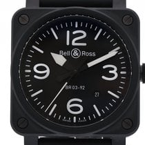 Bell & Ross BR 03-92 Ceramic BR0392-BL-CE new