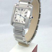 Cartier Tank Française Steel 28mm Silver Roman numerals United States of America, Florida, Boca Raton