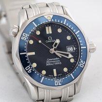 오메가 36mm 쿼츠 중고시계 Seamaster Diver 300 M 파란색