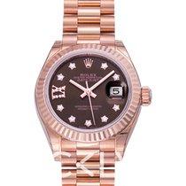 Rolex 279175 G Oro rosa Lady-Datejust 28mm nuevo