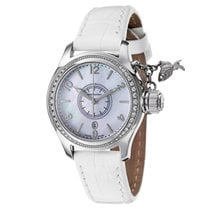 Hamilton Steel Quartz Mother of pearl Arabic numerals 39mm new Khaki Navy