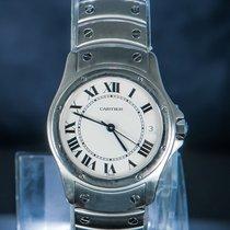 Cartier Santos (submodel) Zeljezo 33mm Bjel Rimski brojevi