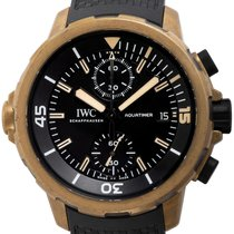 IWC Aquatimer Chronograph pre-owned 44mm Black Chronograph Date Rubber