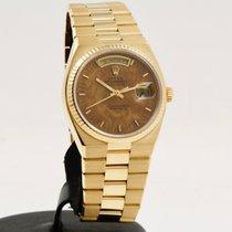 Rolex Day-Date Oysterquartz Oro giallo 36mm Marrone Senza numeri