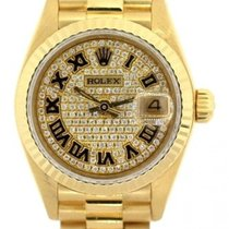 Rolex Presidential Datejust Ladies' 26mm Diamond Dial 18k...