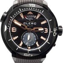 Clerc Hydroscaph GMT Otel 48mm Maron Fara cifre