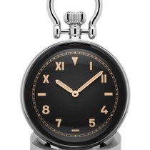 Panerai Table Clock Steel 64mm Black