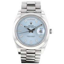 Rolex Platine Remontage automatique Bleu 41mm occasion Day-Date 40