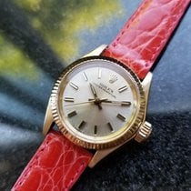 Rolex Solid 18K Ladies Oyster Perpetual 6619 Automatic Dress...