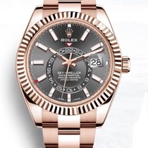 Rolex Sky-Dweller Or rose 42mm Brun Romain
