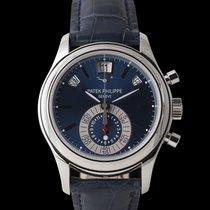 Patek Philippe Annual Calendar Chronograph Platin 40mm Blau