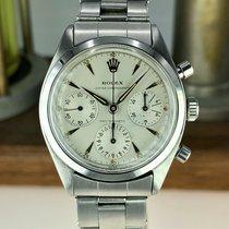 Rolex Chronograph Aço Prata Sem números