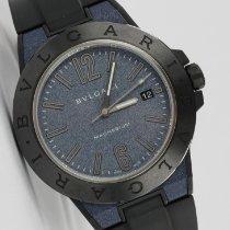 Bulgari Cerâmica Automático Azul 41mm usado Diagono