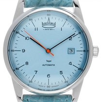 Askania Tegel Steel 40mm Blue Arabic numerals