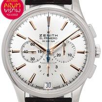 Zenith Captain Chronograph Steel 42mm Silver No numerals