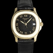 Patek Philippe Yellow gold Automatic Black 35mm pre-owned Aquanaut